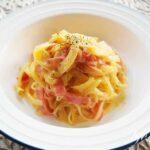 しらたきカルボナーラの作り方。あさイチのしらたきパスタのレシピ。