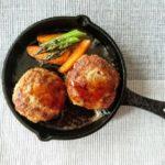 あさイチの牛切り落とし肉のステーキ風ハンバーグのレシ