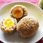 秘密のケンミンショーの玉めしのレシピ。福岡県の煮卵おにぎり。