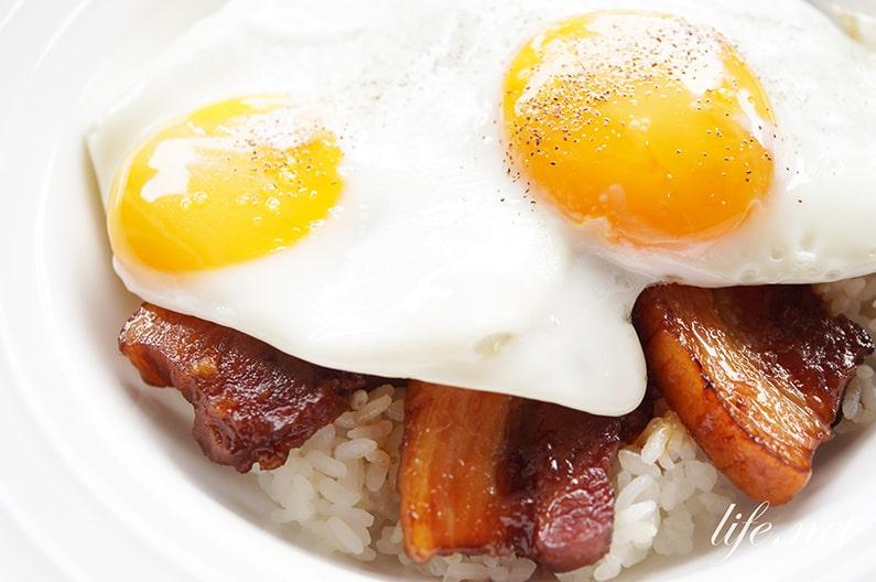 焼豚玉子飯レシピ。ケンミンショーで話題の愛媛県のご当地料理。