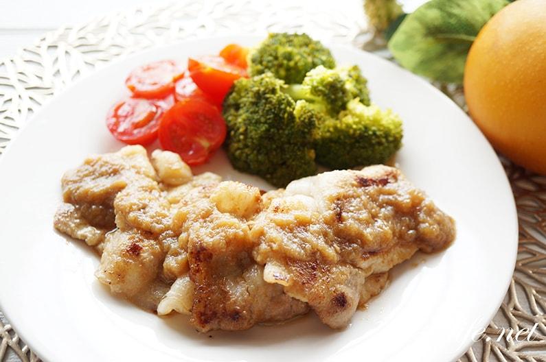 梨の生姜焼きのレシピ。すりおろし梨のたれで絶品!お肉も柔らか。
