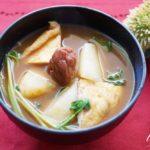 長芋と豆苗、梅干しの味噌汁のレシピ。ヒルナンデスで話題。