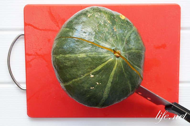 かぼちゃの簡単な切り方とコツ。ためしてガッテンやあさイチで話題。