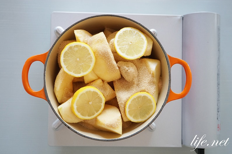 栗原はるみさんのりんごの簡単パイ、アップルパイレシピ。