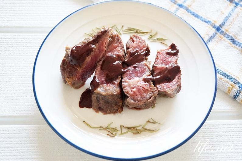 志麻さんのステーキのチョコレートソースのレシピ。赤ワインで。