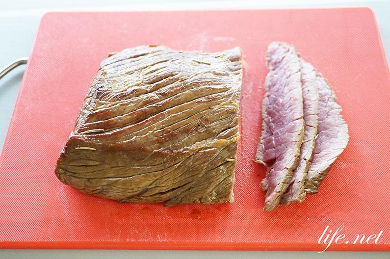 平野レミさんのフライパンローストビーフのレシピ。簡単絶品です。