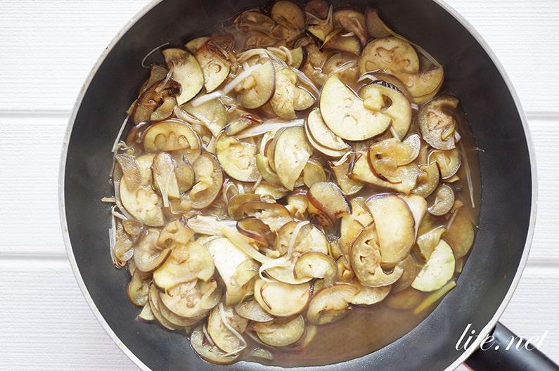 なすのポタージュスープのレシピ。皮ごとで栄養もしっかり摂れる。