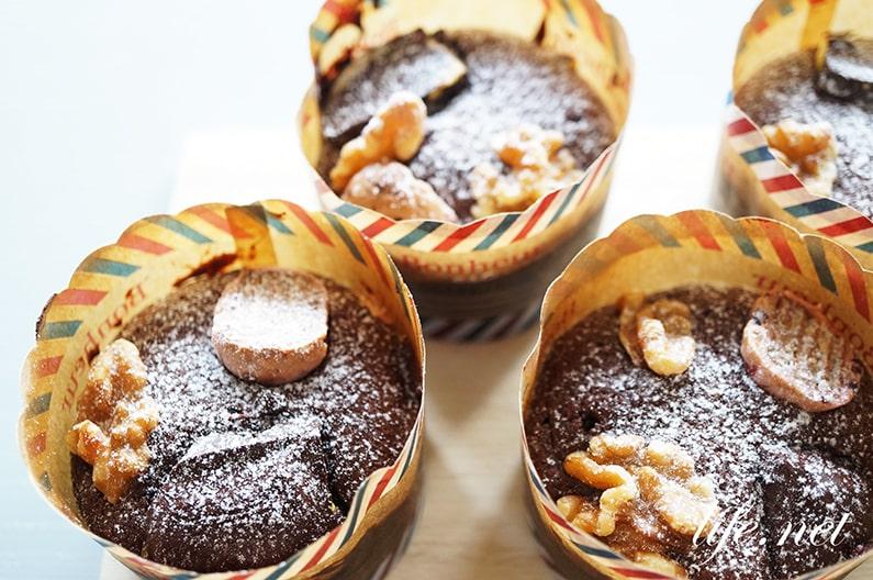 あさイチのブラウニーカップケーキのレシピ。チョコカップケーキ。