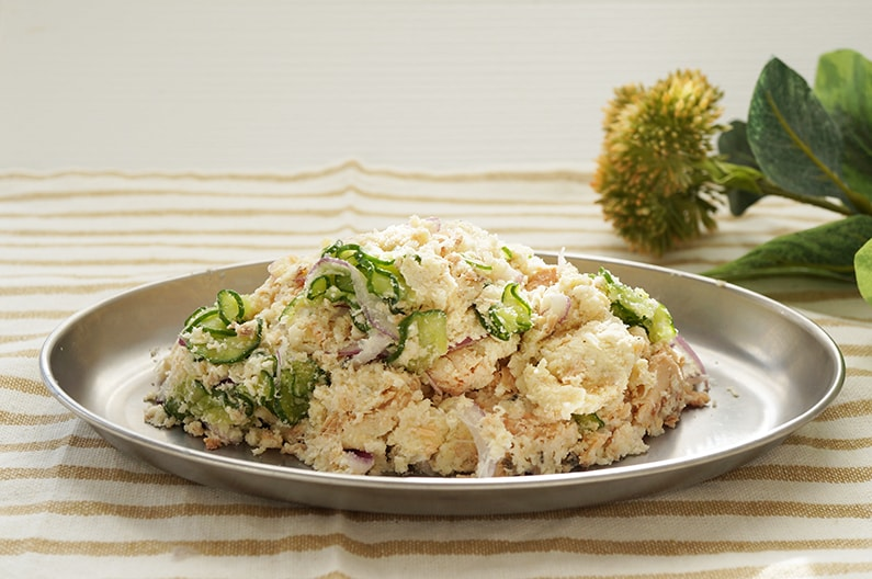 あさイチのなじみ客のポテトサラダのレシピ。