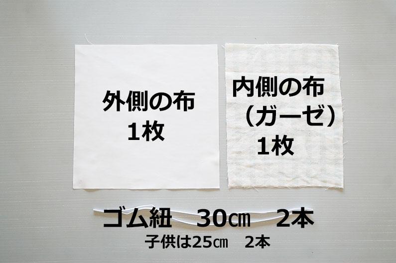 手作りプリーツマスクの作り方。大人用・子供用の無料型紙つき。