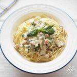 男子ごはんのバジルクリームパスタのレシピ。ブロッコリーと鱈で。