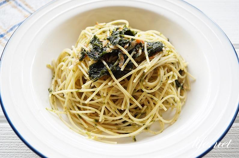 海苔バターパスタのレシピ。あさイチで話題、超簡単!和えるだけ。