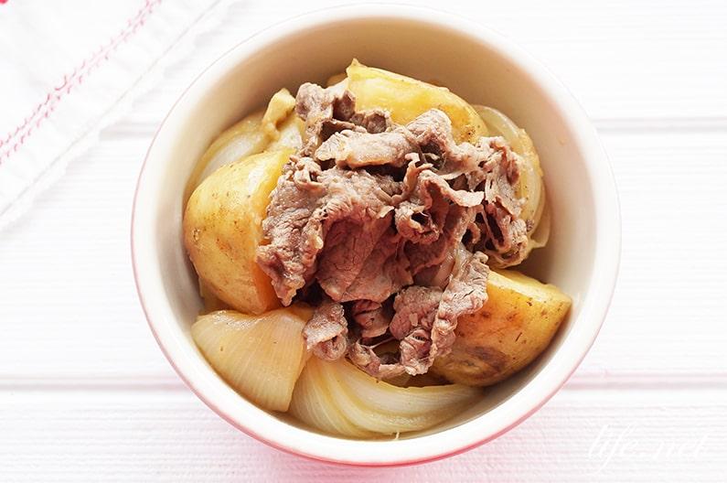 栗原はるみさんの新じゃがと牛肉の甘辛煮のレシピ。肉じゃが風。