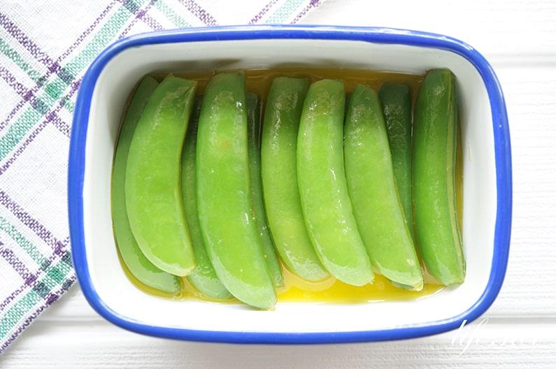 スナップエンドウのマリネのレシピ。イタリアンな簡単メニュー。