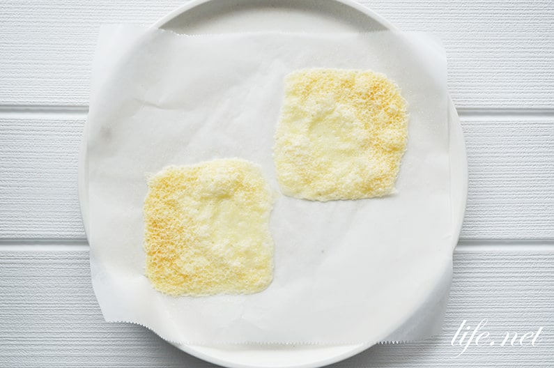 レンジでパリパリチーズのレシピ。マツコの知らない世界で話題。