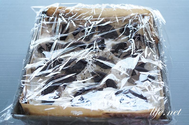 絶品オレオチーズケーキのレシピ。ゼラチンなしで簡単!混ぜるだけ。