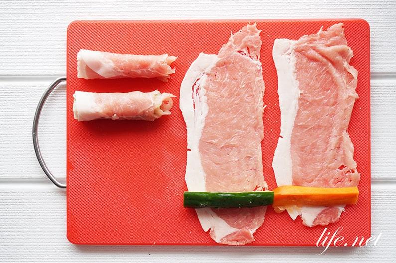 ぬか漬けの豚肉巻きの作り方。便秘解消にも効果的。