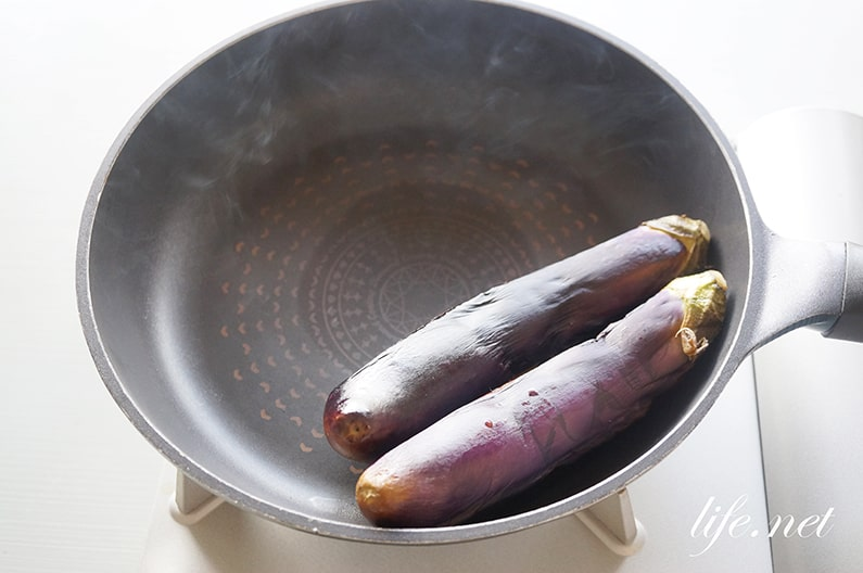 ガッテンの焼きなす・ナスロンポーのレシピ。フライパンで簡単。