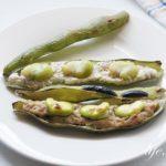 そら豆の肉豆腐焼きの作り方。ワタごと美味しく食べられるレシピ。