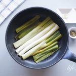 平野レミさんの長ネギの焼くだけのレシピ。フライパンで焼くだけ。