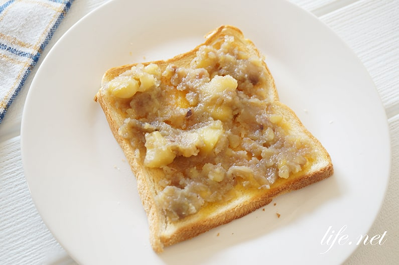 栗ジャムトーストのレシピ