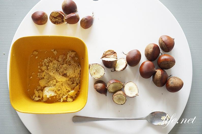 栗のパウンドケーキの作り方。生栗の茹で栗で簡単にできるレシピ。