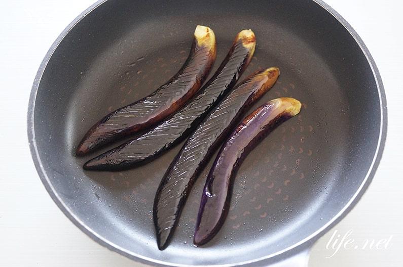 男子ごはんのなすの味噌田楽の作り方。フライパンで簡単にできる。