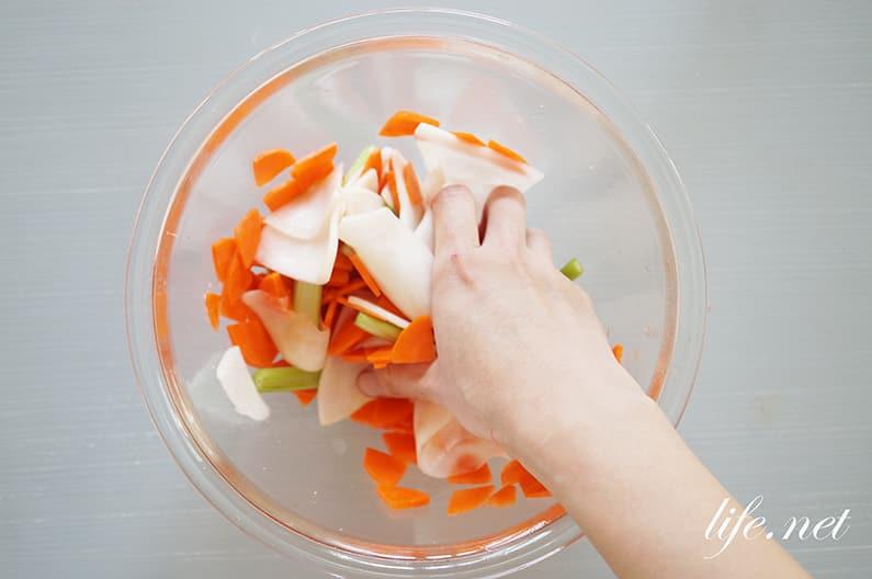 あさイチの浅漬けと浅漬けの素の作り方。野崎洋光さんの塩だけの基本のレシピ。