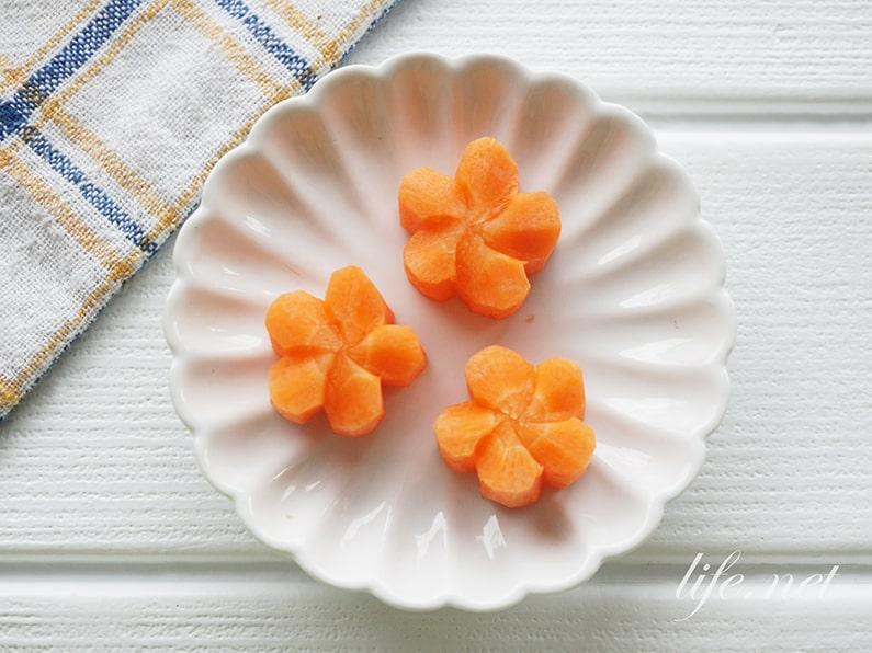 ねじり梅の切り方と作り方。型なしでも簡単!飾り切りにおすすめ。