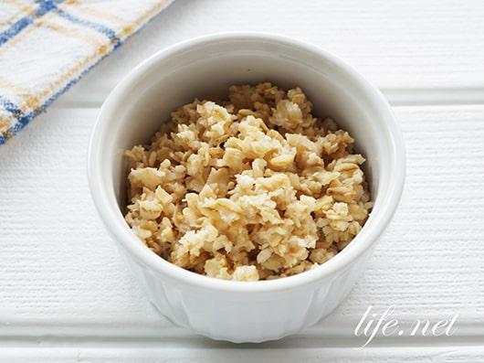 あさイチのオートミールごはんの作り方。米の代用ダイエットに!