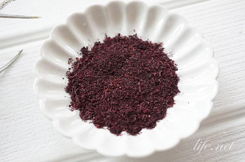 赤紫蘇ふりかけの作り方。ジュースの残りでできるゆかりのレシピ。